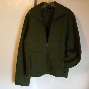 Alexandra Bartlett Dark Green Wool Jacket